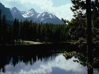 ce n'est pas le Lac Vert, au-dessus de Chamonix, face au Mont-Blanc, mais ça y ressemble